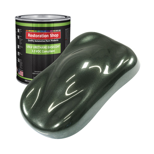 Fathom Green Firemist - LOW VOC Urethane Basecoat Auto Paint - Gallon Paint Color Only - Professional High Gloss Automotive, Car, Truck Refinish Coating