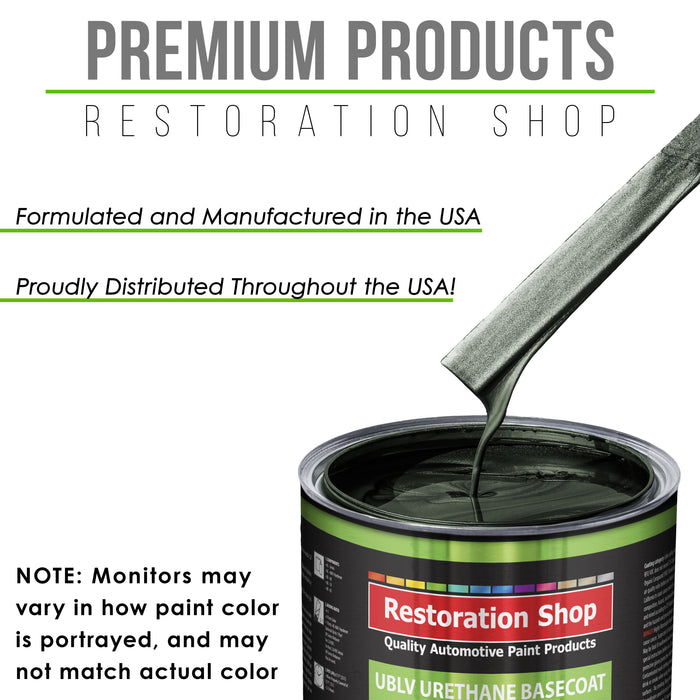 Fathom Green Firemist - LOW VOC Urethane Basecoat with Premium Clearcoat Auto Paint - Complete Slow Gallon Paint Kit - Professional High Gloss Automotive Coating