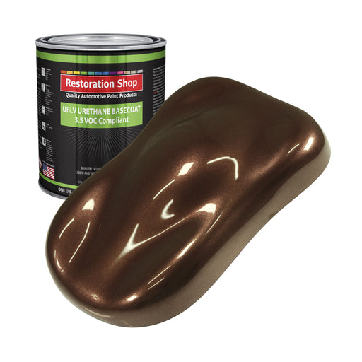 Saddle Brown Firemist - LOW VOC Urethane Basecoat Auto Paint - Gallon Paint Color Only - Professional High Gloss Automotive, Car, Truck Refinish Coating