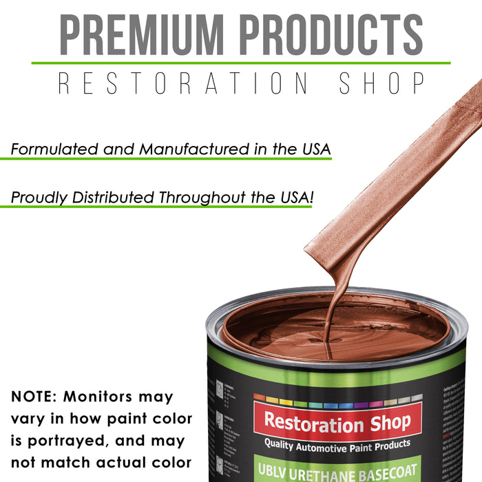Whole Earth Brown Firemist - LOW VOC Urethane Basecoat with Premium Clearcoat Auto Paint - Complete Slow Gallon Paint Kit - Professional High Gloss Automotive Coating