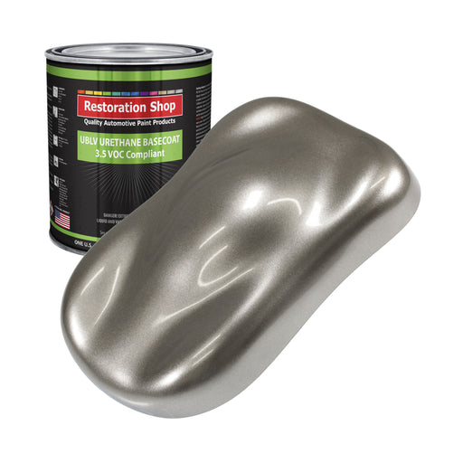 Firemist Pewter Silver - LOW VOC Urethane Basecoat Auto Paint - Gallon Paint Color Only - Professional High Gloss Automotive, Car, Truck Refinish Coating