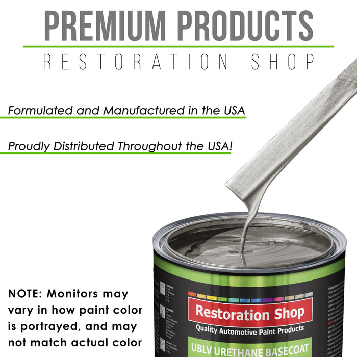 Firemist Pewter Silver - LOW VOC Urethane Basecoat with Clearcoat Auto Paint - Complete Medium Quart Paint Kit - Professional High Gloss Automotive Coating