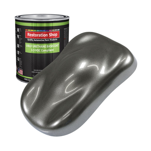 Charcoal Gray Firemist - LOW VOC Urethane Basecoat Auto Paint - Gallon Paint Color Only - Professional High Gloss Automotive, Car, Truck Refinish Coating