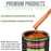 Firemist Orange - LOW VOC Urethane Basecoat with Premium Clearcoat Auto Paint - Complete Medium Gallon Paint Kit - Professional High Gloss Automotive Coating