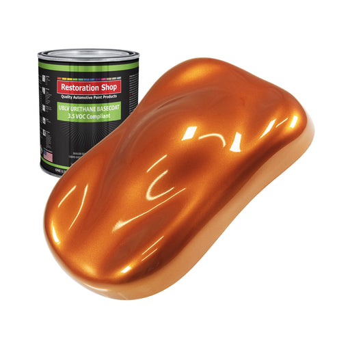 Firemist Orange - LOW VOC Urethane Basecoat Auto Paint - Quart Paint Color Only - Professional High Gloss Automotive Coating