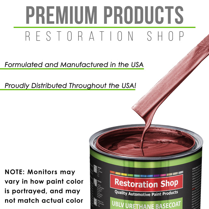 Firemist Red - LOW VOC Urethane Basecoat with Premium Clearcoat Auto Paint - Complete Medium Quart Paint Kit - Professional High Gloss Automotive Coating