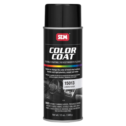 Color Coat - Plastic & Vinyl Flexible Coating, Landau Black, 12 oz. Aerosol