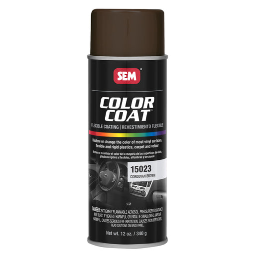 Color Coat - Plastic & Vinyl Flexible Coating, Cordovan Brown, 12 oz. Aerosol