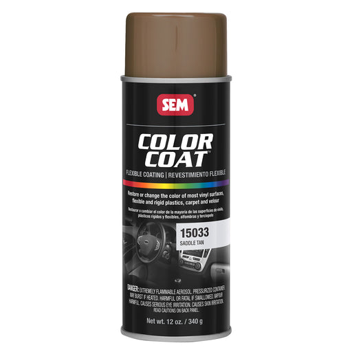 Color Coat - Plastic & Vinyl Flexible Coating, Saddle Tan, 12 oz. Aerosol