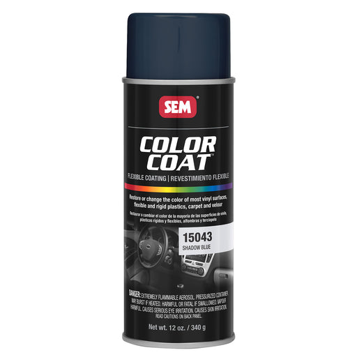 Color Coat - Plastic & Vinyl Flexible Coating, Shadow Blue, 12 oz. Aerosol