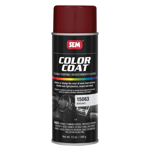 Color Coat - Plastic & Vinyl Flexible Coating, Burgundy, 12 oz. Aerosol
