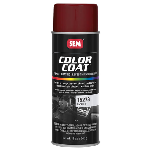 Color Coat - Plastic & Vinyl Flexible Coating, Napa Red, 12 oz. Aerosol