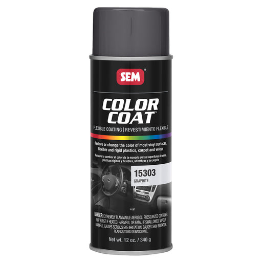 Color Coat - Plastic & Vinyl Flexible Coating, Graphite, 12 oz. Aerosol