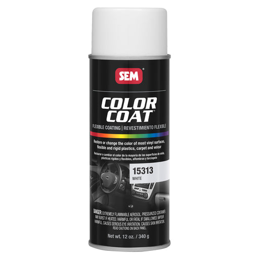 Color Coat - Plastic & Vinyl Flexible Coating, White, 12 oz. Aerosol