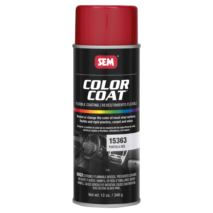 Color Coat - Plastic & Vinyl Flexible Coating, Portola Red, 12 oz. Aerosol