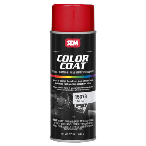 Color Coat - Plastic & Vinyl Flexible Coating, Flame Red, 12 oz. Aerosol