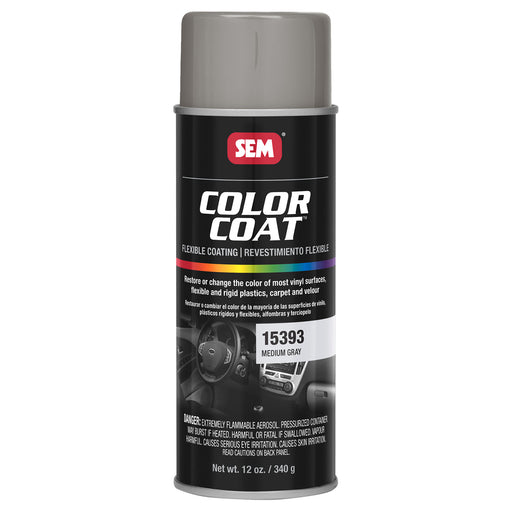 Color Coat - Plastic & Vinyl Flexible Coating, Medium Gray, 12 oz. Aerosol