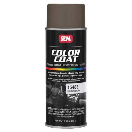 Color Coat - Plastic & Vinyl Flexible Coating, Bluebird Brown, 12 oz. Aerosol