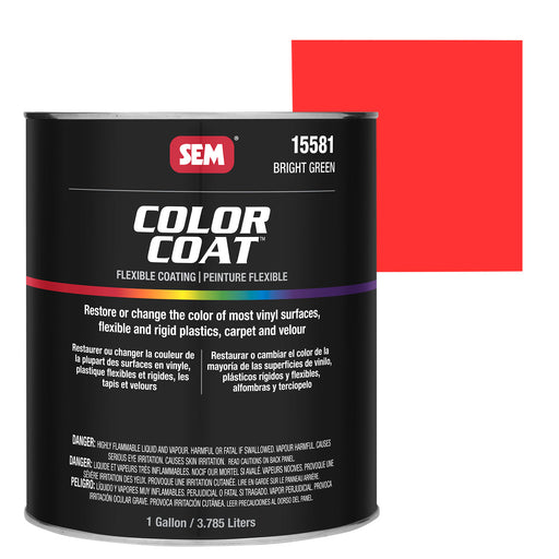 Color Coat - Plastic & Vinyl Flexible Coating, Bright Red, 1 Gallon