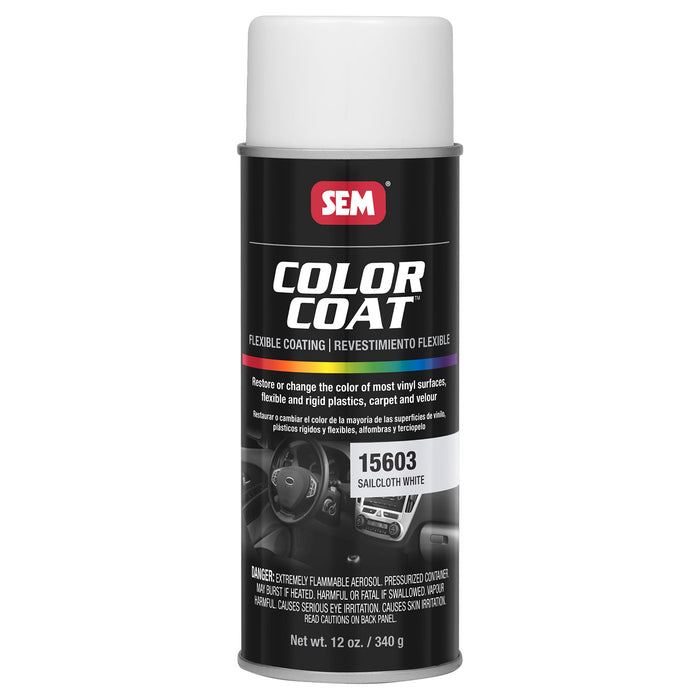 Color Coat - Plastic & Vinyl Flexible Coating, Sailcloth White, 12 oz. Aerosol