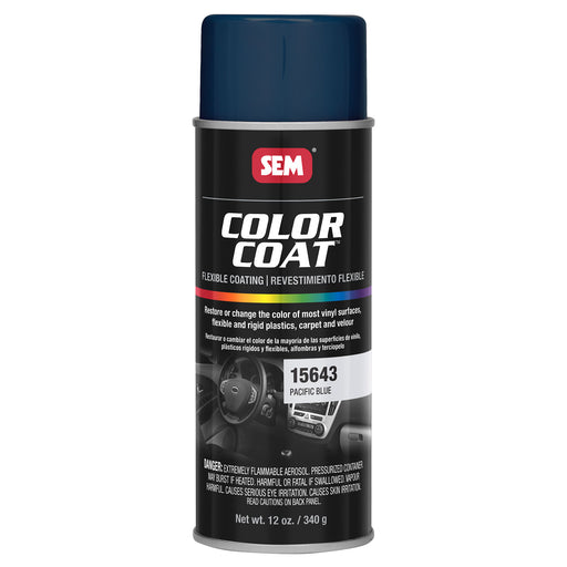 Color Coat - Plastic & Vinyl Flexible Coating, Pacific Blue, 12 oz. Aerosol