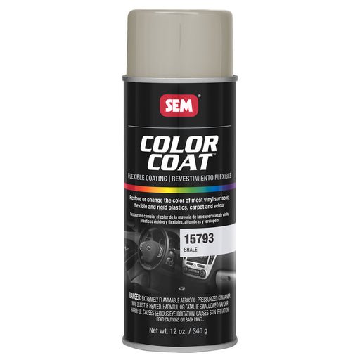 Color Coat - Plastic & Vinyl Flexible Coating, Shale, 12 oz. Aerosol