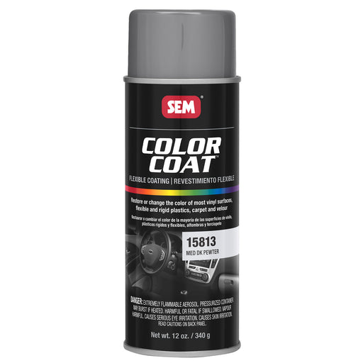 Color Coat - Plastic & Vinyl Flexible Coating, Medium Dark Pewter, 12 oz. Aerosol