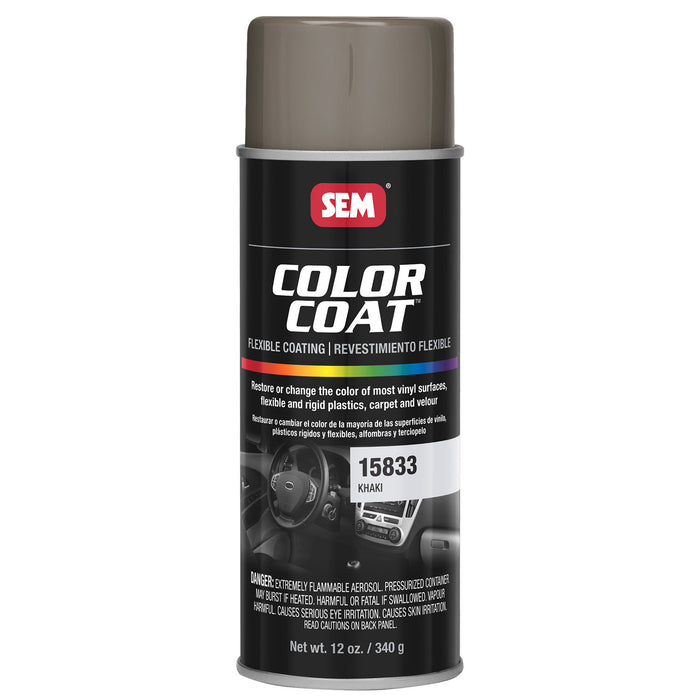Color Coat - Plastic & Vinyl Flexible Coating, Khaki, 12 oz. Aerosol