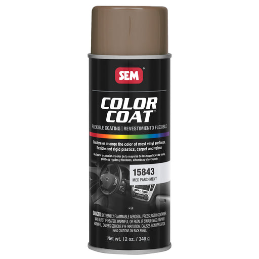 Color Coat - Plastic & Vinyl Flexible Coating, Medium Parchment, 12 oz. Aerosol