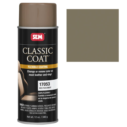 Classic Coat - Leather & Vinyl Flexible Coating, Medium Parchment (Ford BJCA), 12 oz. Aerosol