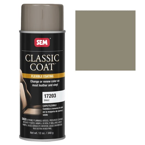 Classic Coat - Leather & Vinyl Flexible Coating, Shale (GM 149B), 12 oz. Aerosol