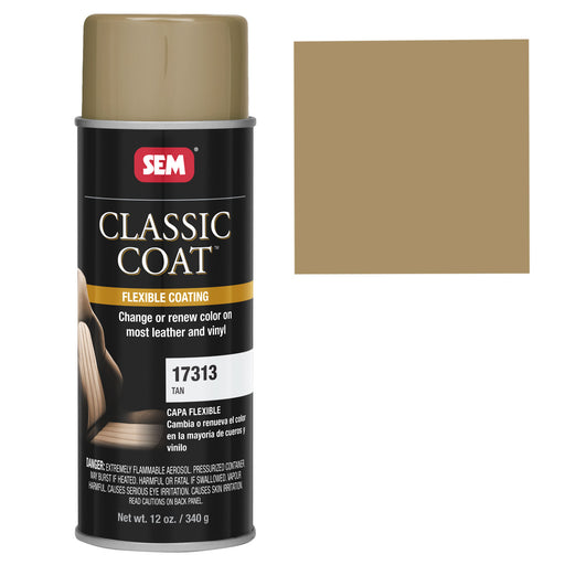 Classic Coat - Leather & Vinyl Flexible Coating, Tan (Acura), 12 oz. Aerosol