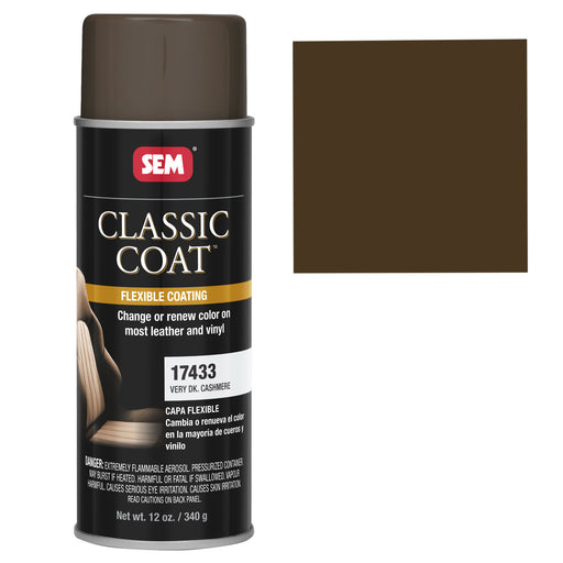 Classic Coat - Leather & Vinyl Flexible Coating, Very Dark Cashmere (GM), 12 oz. Aerosol