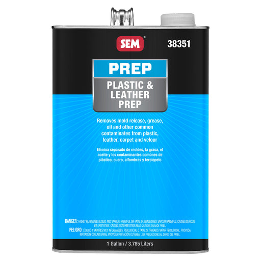 Plastic & Leather Prep, Removes Contaminants, 1 Gallon