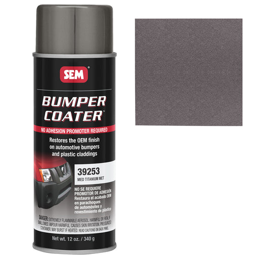 Bumper Coater, Renew Original Appearance, Medium Titanium Metallic, 12 oz. Aerosol