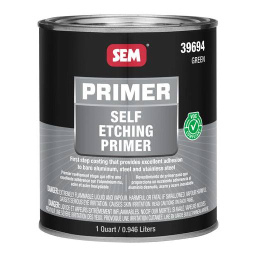 Self Etching Primer, Adheres to Steel & Aluminum, Green, 1 Quart