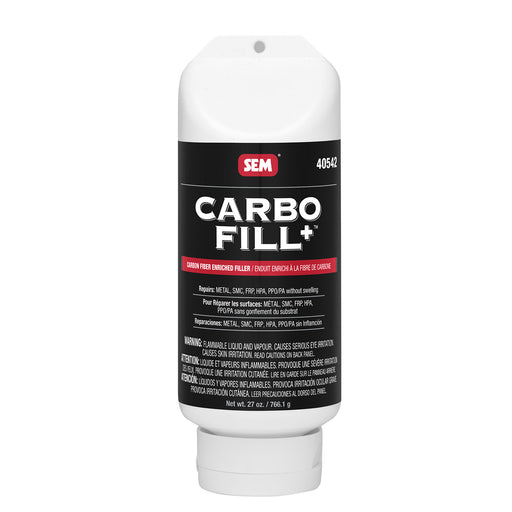Carbo-Fill+, Carbon Fiber Enriched Filler for SMC, Fiberglass, PP, Steel & Aluminum, 27 oz. Tube