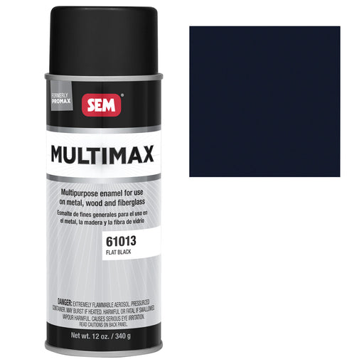 Promax - General Purpose Enamel, Flat Black, 16 oz. Aerosol
