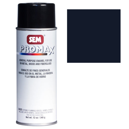 Promax - General Purpose Enamel, Semi-Gloss Black, 16 oz. Aerosol