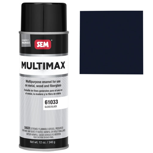 Promax - General Purpose Enamel, Gloss Black, 16 oz. Aerosol