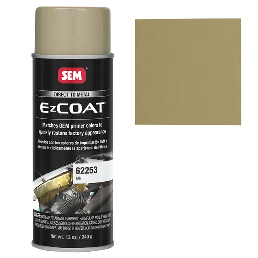 Ez Coat - Direct to Metal Color Coating, Tan, 12 oz. Aerosol