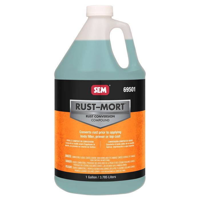 Rust-Mort - Converts Rust to a Hard Protective Coating, 1 Gallon