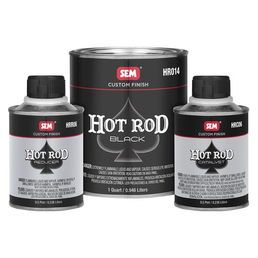 Hot Rod Black Kit, Durable 2K Matte Finish, 1-1/2 Quart Kit