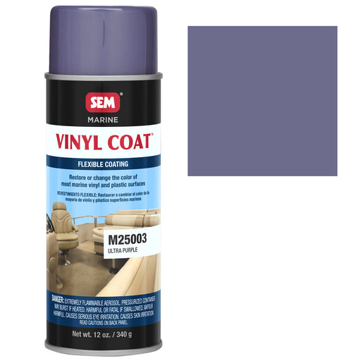 Marine Vinyl Restoration Coating, Ultra Purple, 12 oz. Aerosol