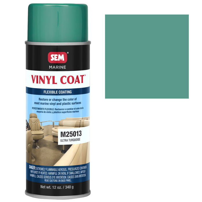 Marine Vinyl Restoration Coating, Ultra Turquoise, 12 oz. Aerosol