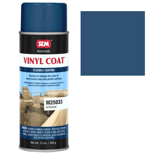Marine Vinyl Restoration Coating, Ultra Blue, 12 oz. Aerosol