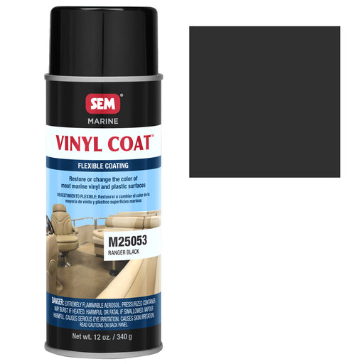 Marine Vinyl Restoration Coating, Ranger Black, 12 oz. Aerosol