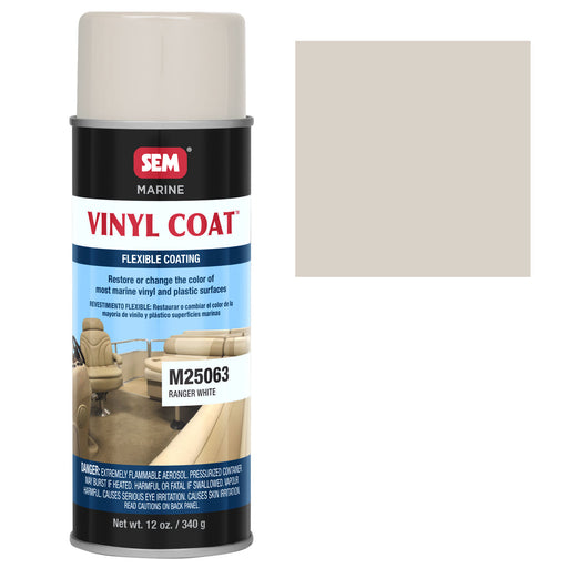 Marine Vinyl Restoration Coating, Ranger White, 12 oz. Aerosol