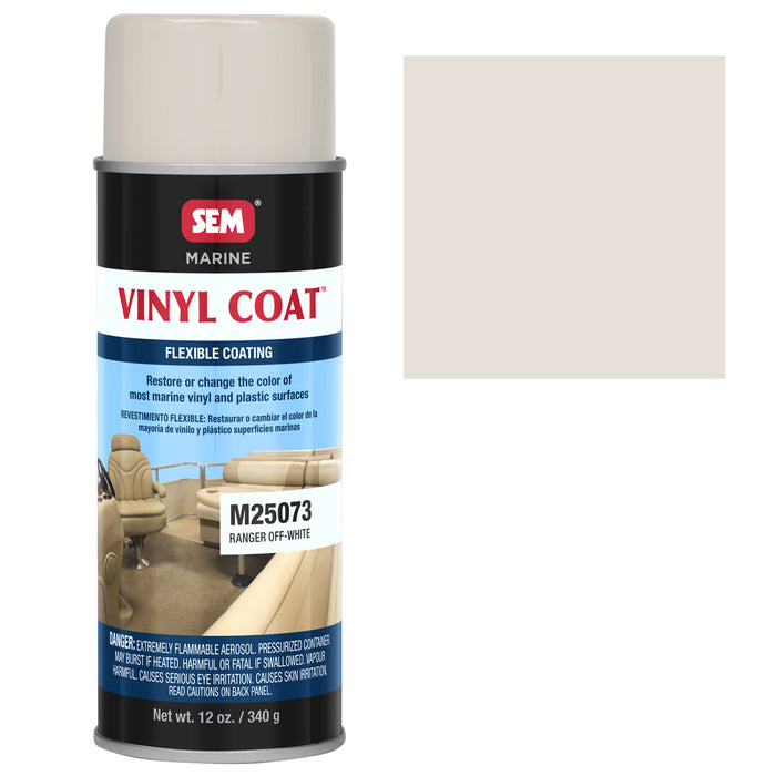 Marine Vinyl Restoration Coating, Ranger Off-White, 12 oz. Aerosol
