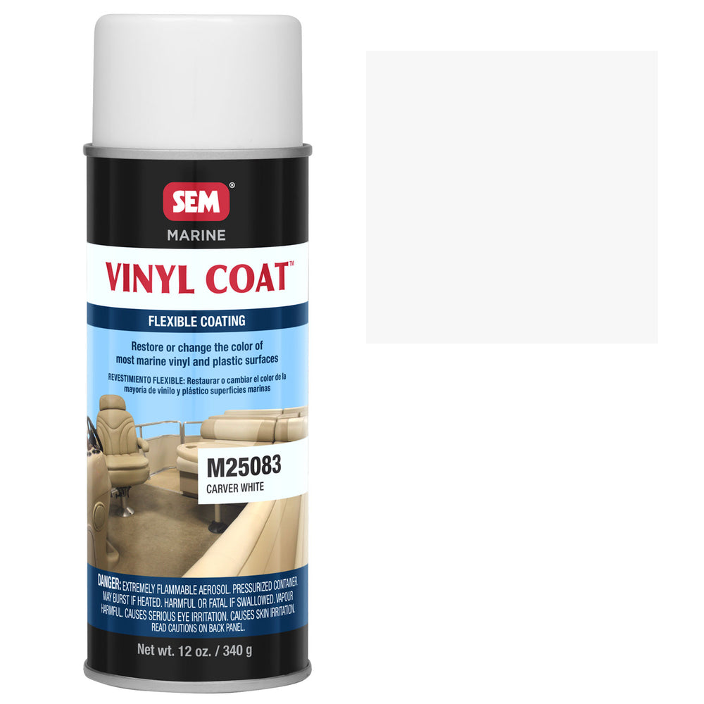 Marine Vinyl Restoration Coating, Carver White, 12 oz. Aerosol